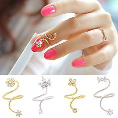 Taobao BEA Korean jewelry diamond crown flower butterfly knot nail