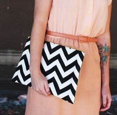Cute Chevron Clutch (Alliteration!!)