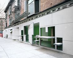 Definitely one of the funkiest gallery spaces I have seen: Storefront for Art and Architecture, NYC.