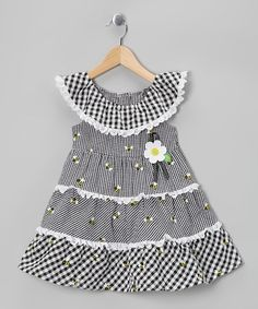 Take a look at this Black Bee Tiered Dress - Infant by Samara on #zulily today!