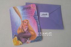 Convite Rapunzel  :: flavoli.net - Papelaria Personalizada :: Contato: (21) 98-836-0113 vendas@flavoli.net