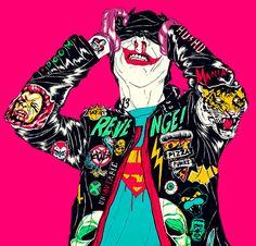 The Joker - Boneface always wanted to do a joker cosplaying batman...