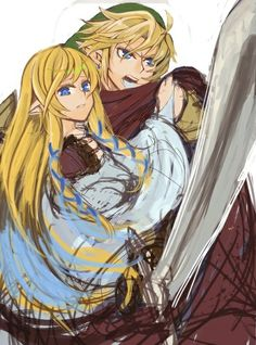 Link et Zelda Skyward Sword