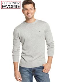 Tommy Hilfiger Signature Solid Crew-Neck Sweater | macys.com