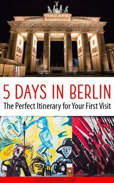 Berlin Itinerary: the best of Berlin in 5 days, including day trip ideas such as Rakotzbrucke and Bastei Bridge. #berlin #germany #travelideas