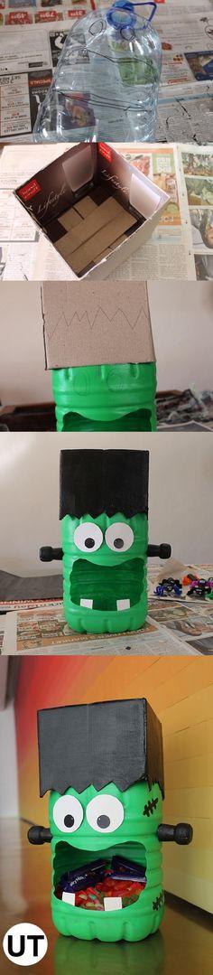 Halloween monstruos con rollos de papel /Toilet paper roll monsters - halloween diy ideas
