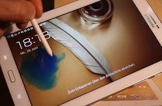 Cooler Tintenkleks-Effekt auf dem Lockscreen des Samsung Galaxy Note 8.0: Die 3G-Version erhält das Update auf Android 4.2.2