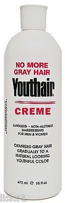 YOUTHAIR CREME HAIRCOLOR FOR MEN & WOMEN , 1_16 OZ. BOTTLE