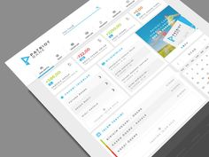 Online Banking Home Page UI