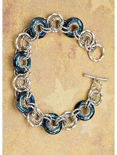 Cosmic Chain Maille Bracelet - Interweave
