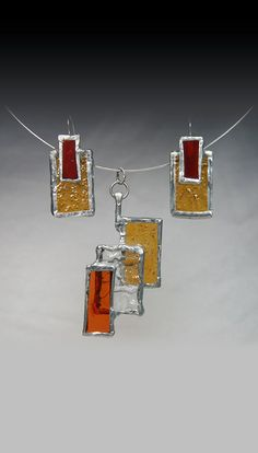 Eye Catching Stained Glass Necklace and by GlassFusionsDotNet