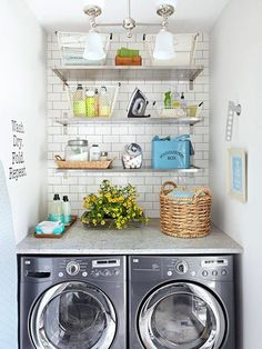 Dream laundry nook for the cabin! #iamthelaundress