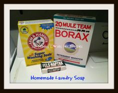 My oldest child has always struggled with allergies! It has gotten better with age, thankfully. When she was little, she had eczema and even the store brand laundry detergents that were labeled gen… Borax Cleaning, Chemical Free Cleaning, Cleaning Hacks, Cleaning Solutions, Detergent Bottles, Homemade Laundry Detergent, Fels Naptha, Homemade Cleaning Supplies, House Cleaning Tips