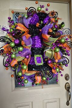 Kristen's Creations: Halloween Mesh Wreath I haven't seen a single design of hers that I didn't Love!