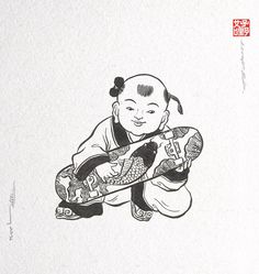 abundance  Chinese art Skateboard
