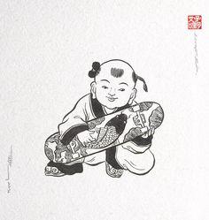 abundance  Chinese art Skateboard