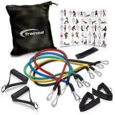 Set of 5 Workout Exercise Bands for Legs & Butt... Vtive Resistance Loop Bands