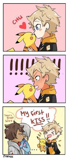 Spark's first kiss