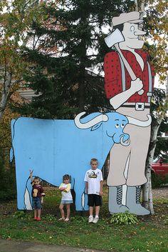 Paul Bunyan & Babe the Blue Ox Downtown Isle, Minnesota