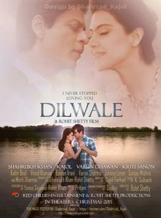Looking forward to seeing it. Shahrukh Khan And Kajol, Shah Rukh Khan Movies, Bollywood Couples, Bollywood Actors, Dilwale 2015, Varun Sharma, Srk Movies, Rohit Shetty, Bollywood Posters