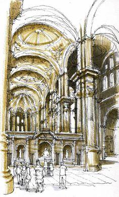 Málaga, catedral by Luis Ruiz Padron