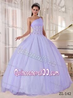 Lilac colored ball gown