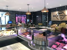 HK Interiors the butchers shop design, refitting and refurbishment specialists. Experienced national butchers shop Design and Shopfitting throughout England, Scotland and Wales. Award winning butchers shop designers and shop fitters including Butchers Sho Deli Shop, Deli Cafe, Butcher Store, Carnicerias Ideas, Commercial Kitchen Design, Meat Store, Chicken Shop, Supermarket Design, Meat Markets