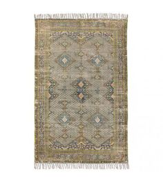 HKliving Vintage Overdyed Teppich 280 x 180 cm, # Teppich industriell # Printed Rugs, Printed Cotton Rug, Cotton Rug, Natural Rug, Rugs, Vintage Carpet, Prints, Living Rugs, Overdyed Rugs