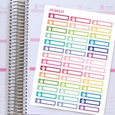 """Planner Stickers To Do Headers. Each sticker sheet is 7.5"""" x 5.5""""  Each sticker is 1.5 x 0.33 - fits EC planner perfectly.  The stickers are"""
