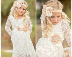 Lace girl dress flower girl dress flower girl by SweetValentina