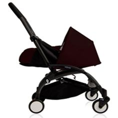 BabyZen - YOYO Newborn Plus Black With Black. For child aged newborn and up, and weighing up to 35 lb. Folded stroller measures 7. Unfolded stroller measures 34. Stroller weighs 12.5 lb. Multi-position reclining seat.