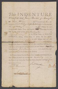 jamestown indentured servants | ... were posted in England ...