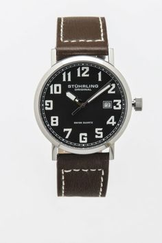 Tuskegee Quartz Leather Strap Watch - Stuhrling - Watches