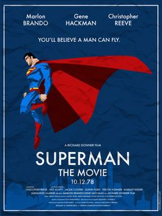 alternative 1978 superman movie poster.