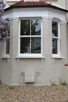 UPVC sash windows Archives - Enfield Windows Upvc Sash Windows, Front Windows, House Ideas, Outdoor Decor, Home Decor, Round Windows, Houses, Blinds, Decoration Home