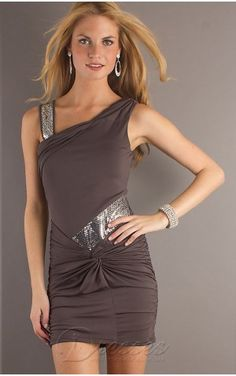 49c64c7266 Move your mouse over image or click to enlarge Allure Sheath Short V-neck  Brown