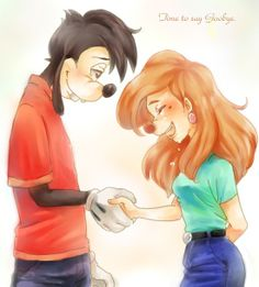 Time to Say Goodbye   by Y @ Pixiv.net // max and roxanne; goof troop; a goofy movie