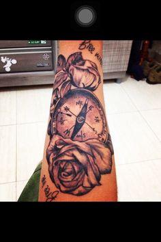#tatto #free #live #mind #bússola #flor #tatuagem
