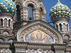 Mosaics of Church of Our Saviour on Spilled Blood, St. Petersburg, Russia