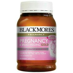 Blackmores Pregnancy & Menyusui Formula Emas diformulasikan secara khusus untuk memberikan nutrisi penting seorang wanita membutuhkan sebelum dan selama kehamilan, serta saat menyusui. Dua kapsul per hari dianjurkan menyediakan jumlah asupan makanan yang paling vitamin untuk wanita hamil, ditambah mineral dan minyak esensial untuk kesehatan bayi.