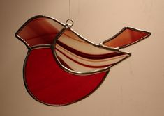 STAINED GLASS CHRISTMAS ROBIN £10.00