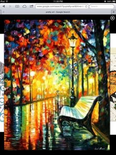 Modern Art Abstract Painting On Canvas By Leonid Afremov She