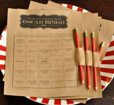 2011 Oscar Party sneak peek > Bingo, 127 Hours Trail Mix, HP Butter Beer - Blog - Twentysomething Test Dummies