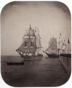 Jean Victor Warnod - Sailing Ships entering Le Havre, 1860
