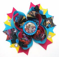 Monster High Hair Bow  Boutique Monster by JustinesBoutiqueBows