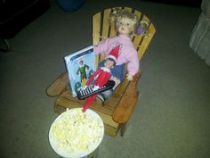 A night watching Elf with his date!