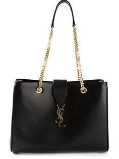 SAINT LAURENT - classic monogrammed shopping bag 7