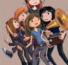 The gang and their tunes Carmilla And Laura, Carmilla Series, Broody, Dracula, Lesbian, Gay, Corgi, Fan Art, Cute