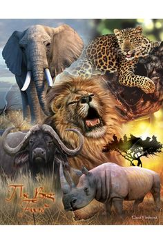 Items similar to Safari Animals (Art On Canvas) on Etsy African Animals, African Safari, African Art, Safari Animals, Animals And Pets, Big Animals, Africa Tattoos, Thinking Day, Mundo Animal