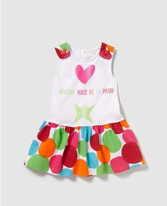 Vestido Agatha Ruiz de la Prada con estampado de corazones multicolor